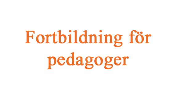 Fortbildning för pedagoger