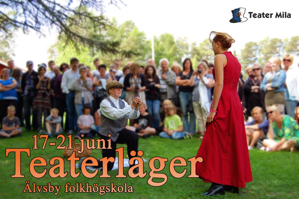 Teaterläger i Älsvbyn 17-21/juni 2018